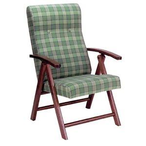 Poltrona sedia relax per camera soggiorno tv camino sedia terrazzo in legno ebay - Poltrone per terrazzo ...