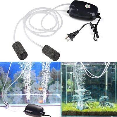 2 Air Bubble Disk Stone Aerator Hole Air Pump For Fish Tank Aquarium Pond Oxygen