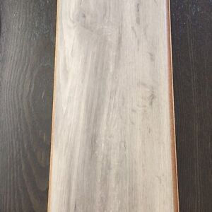 Washed grey oak laminate flooring