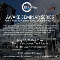 AWAKE Seminar Part 3: How does sleep apnea affect my health?