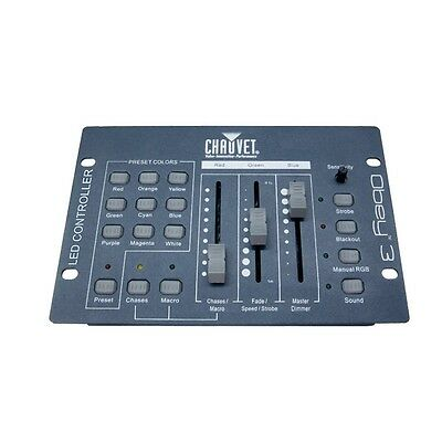 Chauvet Obey 3 Compact 3-Channel DMX LED DJ Disco Lighting Controller Obey3