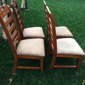 4 Wooden Chairs London Ontario image 2
