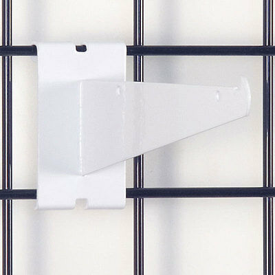 Gridwall Shelf Bracket In White 8 Inch - Box Of 8