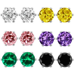 3_00_Ct_Cubic_Zirconia_CZ_Round_Post_with_friction_back_Stud_Earrings_6MM