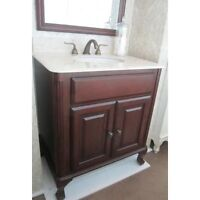"""Update your Bathroom in Style with the Manor Vanity 32""""w"""