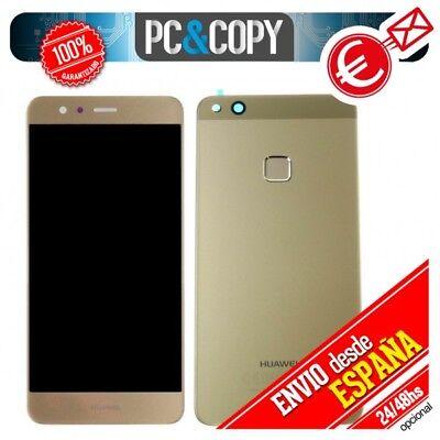 Pantalla LCD + Tapa bateria para Huawei P10 Lite DORADO original LCD+back...