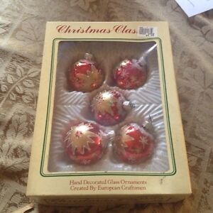 Vintage Christmas Classics Hand Decorated by  European Craftsmen
