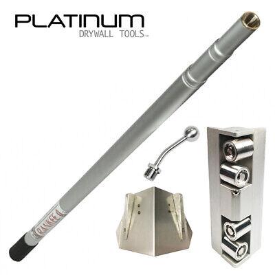 Platinum Drywall Corner Roller Glazer Kit With 3-8 Ft Extendable Handle
