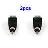 2pcs  CAT5 CAT6 Speaker Wire to Audio Video Phono Male RCA Connector Jack Plug