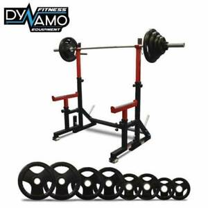New In Box Squat rack (Foldaway) & 100kg Barbell Rubber Package