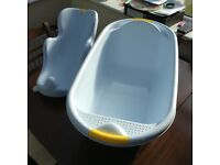 Baby bath with detachable seat