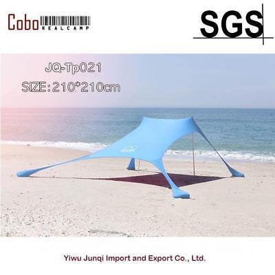 Portable Pergola Windproof Beach Sunshade and Gazebo Tent - 210 X 210 - with -
