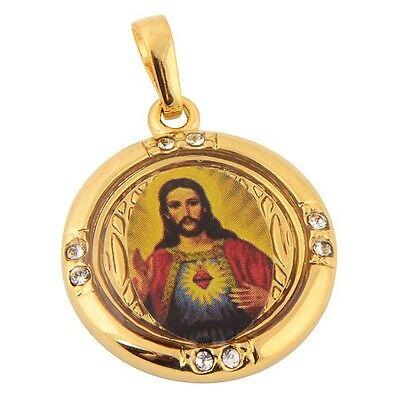 Jesus Anhänger für Kette oder Schlüsselbund 18K Gold verg. Geschenk Taufe