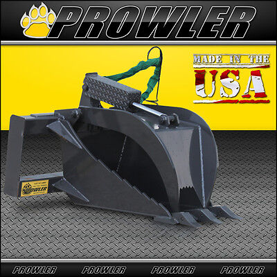 Extreme Duty Stump Bucket Grapple Skid Steer Attachment