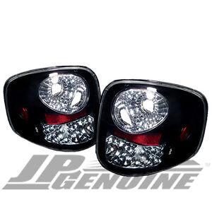 euro style led tail lights black ford f150 flareside 97 03. Black Bedroom Furniture Sets. Home Design Ideas