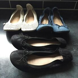 3 pairs girls next shoes