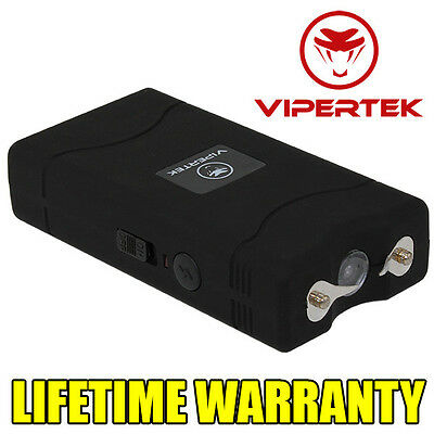 VIPERTEK BLACK VTS-880 5 BV Mini Rechargeable LED Police Stun Gun + Taser Case