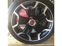 DS alloy wheel and tyre