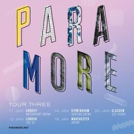 Paramore Seated Tickets Glasgow SSE Hydro