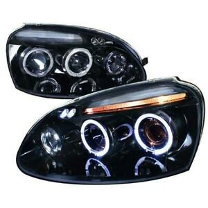 2006-2008 VOLKSWAGEN GOLF Projector Headlight Gloss Black Housing Smoke Lens Also Fits Gti