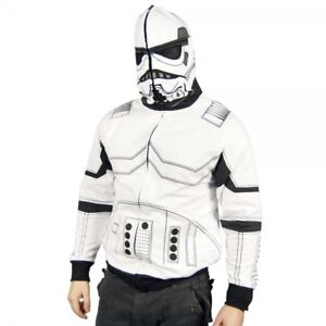 BRAND NEW! SIZE S! Star Wars White Storm Trooper Costume Hoodie