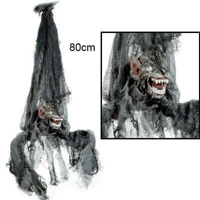 Werwolf Animierte (Hängender Werwolf Vampir animiert 80cm mit Sound bewegl. Kopf  leuchtende Augen)