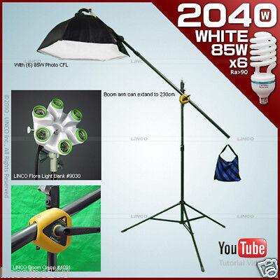 Single Softbox Kit - Single Studio Light Portable Boom Lght Stand Photo Softbox Linco Flora Kit 80101