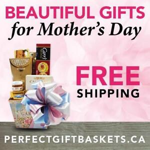 Perfect Gift Baskets to thank Mom on Mother's Day! FREE FAST SHIPPING! Easy shopping!