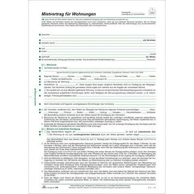 RNK Verlag Mietverträge für Wohnungen Berliner Fassung 4 Seiten  (596/10)