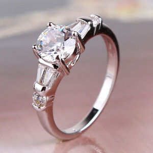 Wedding ring white topaz stylish funky 18k white gold for Funky wedding rings
