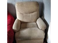 Corner Sofa with matching footstool and recliner