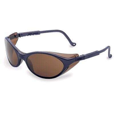 Uvex Bandit Safety Glasses With Brown Anti-fog Lens Blue Frame