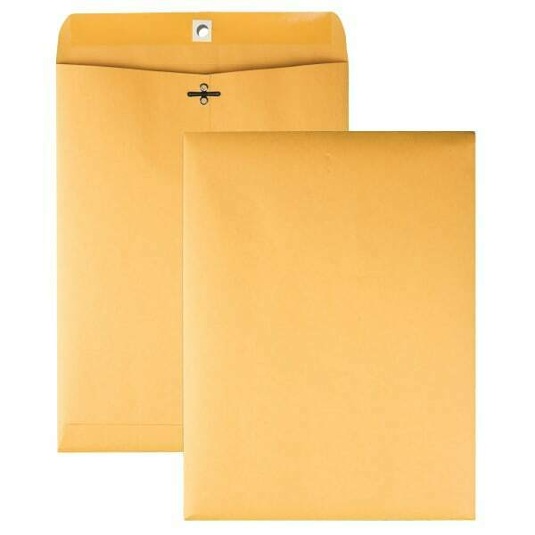 "Clasp Envelopes, W/Dispenser Carton, 9""x12"", 250/CT, Kraft"