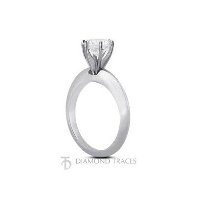 1ct G VS1 Round Natural Certified Diamond 18k Classic Solitaire Engagement Ring - $4,259.00