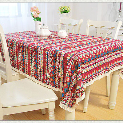 Boho Lace Tablecloth Table Cover Tea Bedside Cloth Overlay Restaurant 5 sizes