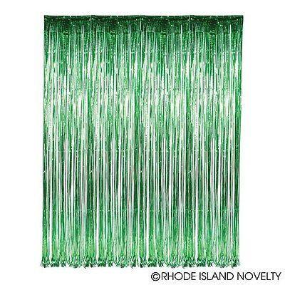 GREEN Metallic Fringe Curtain Party Foil Tinsel Room Decor 3' x 8' Wholesale - Party Supplies Wholesale