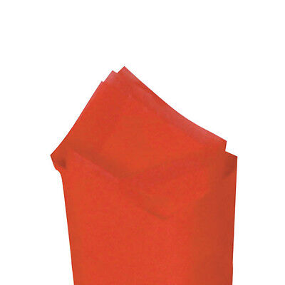 24 Sheets Pack 20 X 30 Mandarin Red Quality Premium Grade Color Tissue Paper