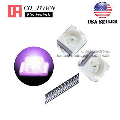 100pcs 1210 3528 Purpleuv Light Plcc-2 Smd Smt Led Diodes Ultra Violet Usa