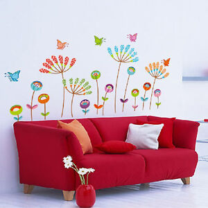 Home-Decor-Wall-Stickers-DIY-Flower-Butterfly-Removable-Vinyl-Decal-Art-Mural