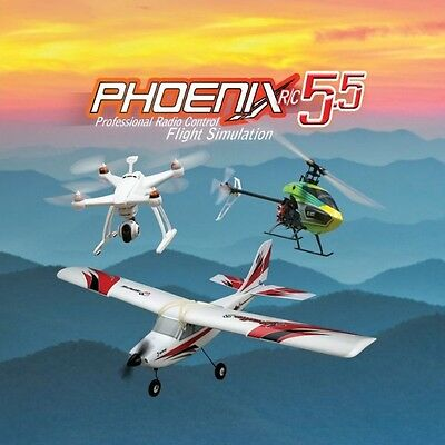 Phoenix R/C Pro Flight Simulator / Sim V5.5 Version w Adapter FOR Spektrum DX6