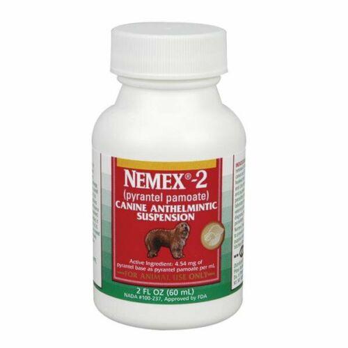 NEMEX-2 Dog Canine Liquid Dewormer Wormer 2 oz Pyrantel Great Taste SAFE