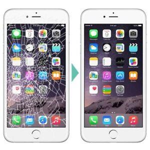 Remplacement Vitre cassé iPad 49$ iPhone 6 49$ 5S 45$ 6 Plus 59$