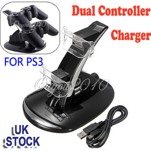 Dual LED Docking Charger Charging Stand Station For Sony PS3 Wireless Controller