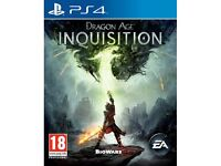 4 X PS4 GAMES price £50.00 or separate £££
