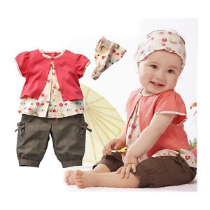 3pcs-Kids-Child-Girl-Infant-Baby-Top-Pants-Headband-Outfit-Clothing-Set-0-36M
