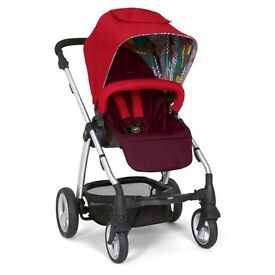 Mamas & Papas Bright Red Sola 2 Pushchair plus lots of accessories