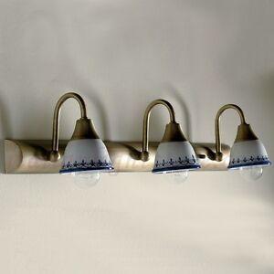 Applique lampada parete classico rustico country ottone - Applique per bagno classico ...