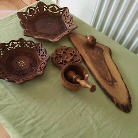 Wooden decorative household items
