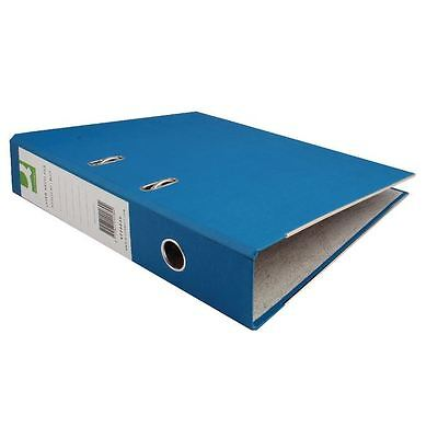 Q-Connect Paper-Backed Blue Lever Arch Foolscap File [KF20030X]