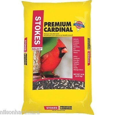 3 Pack Stokes Select 14# Bag Premium Cardinal Mixed Bird Food Seed 9271
